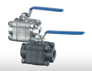 Water ASTM A 105 Threaded Floating Ball Valve Full Bore Ball Valve With  Seat