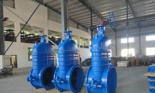 Iron coating EPDM or NBR Resilient seated Gate Valve PN16 600mm